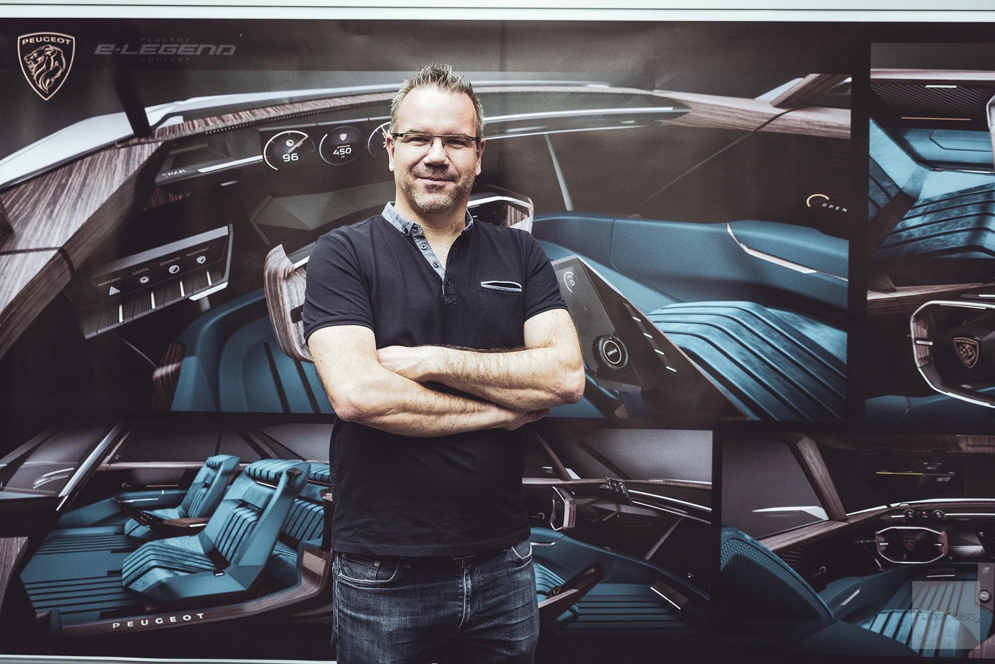 Peugeot P18 Paris Motor Show 2018 E Legend Concept Car Interview designer 3