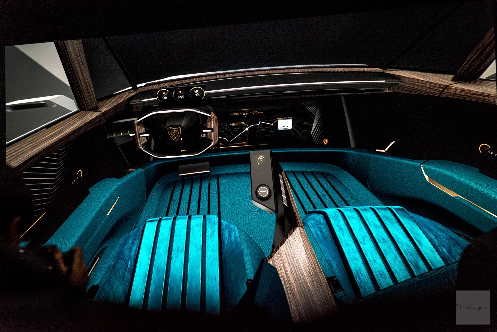 Peugeot P18 Paris Motor Show 2018 E Legend Concept Car Presentation numerique interieur