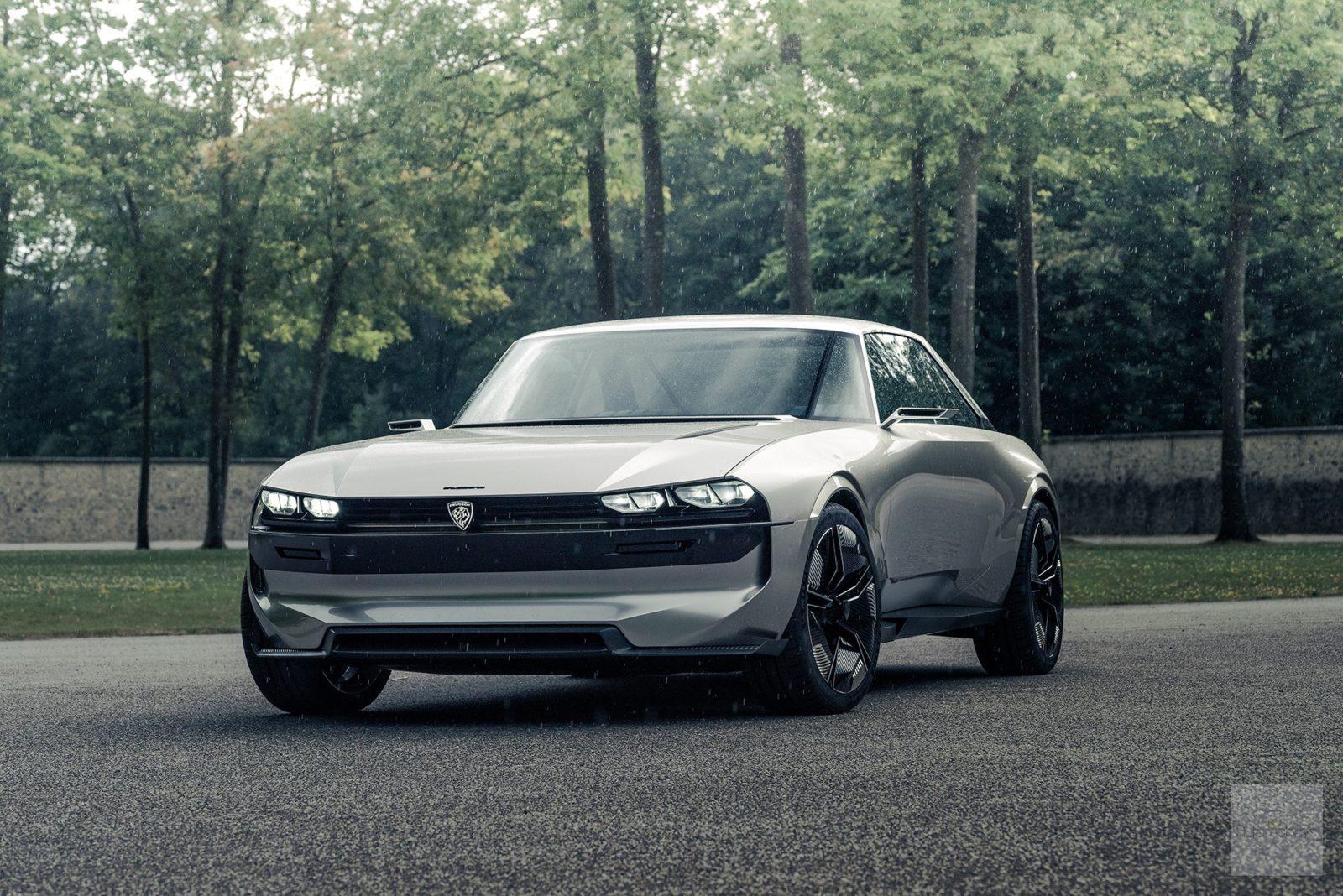 Peugeot P18 Paris Motor Show 2018 E Legend Concept Car concept face avant e1545521374706