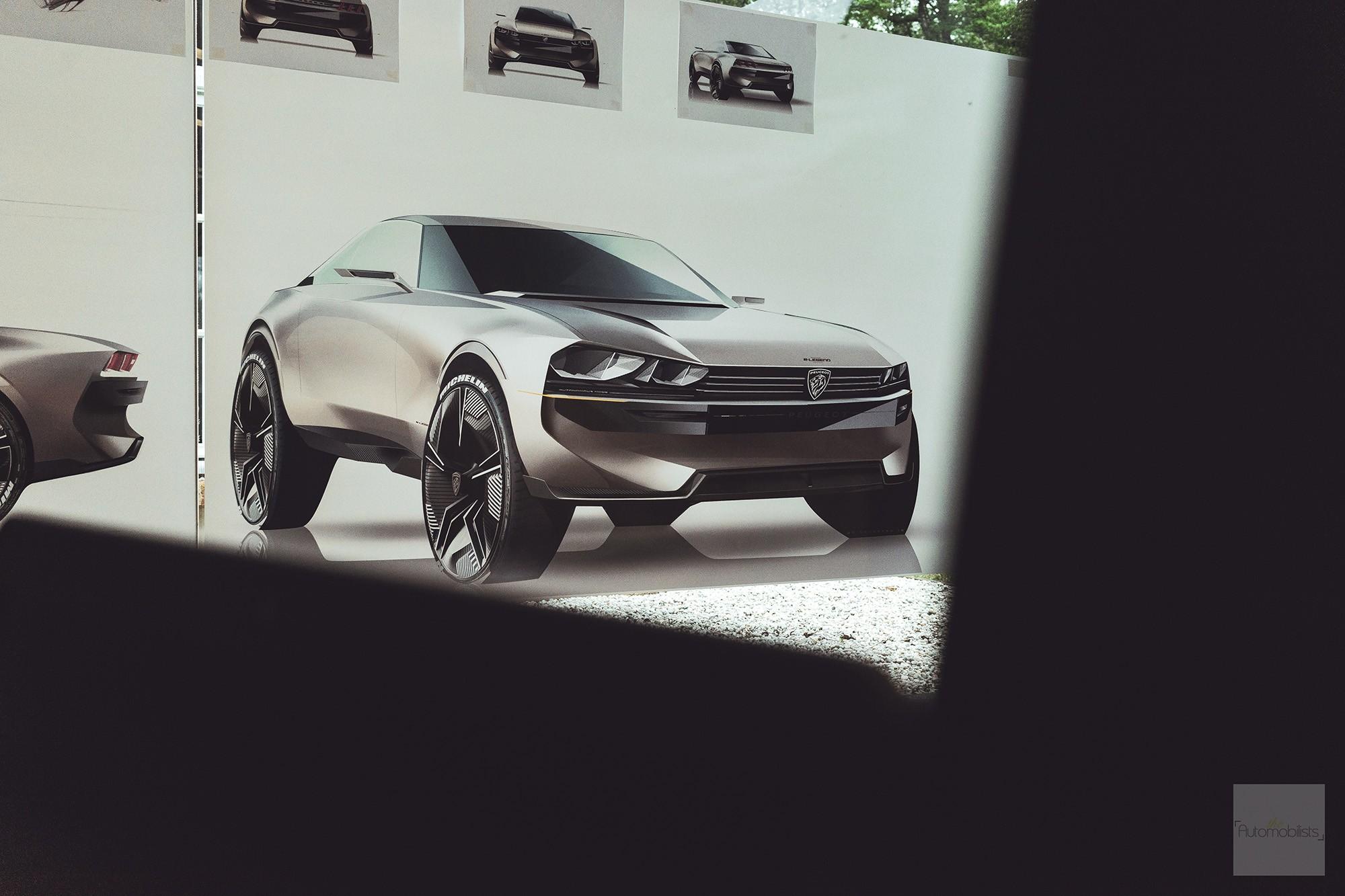 Peugeot P18 Paris Motor Show 2018 E Legend Concept Car sketch 2