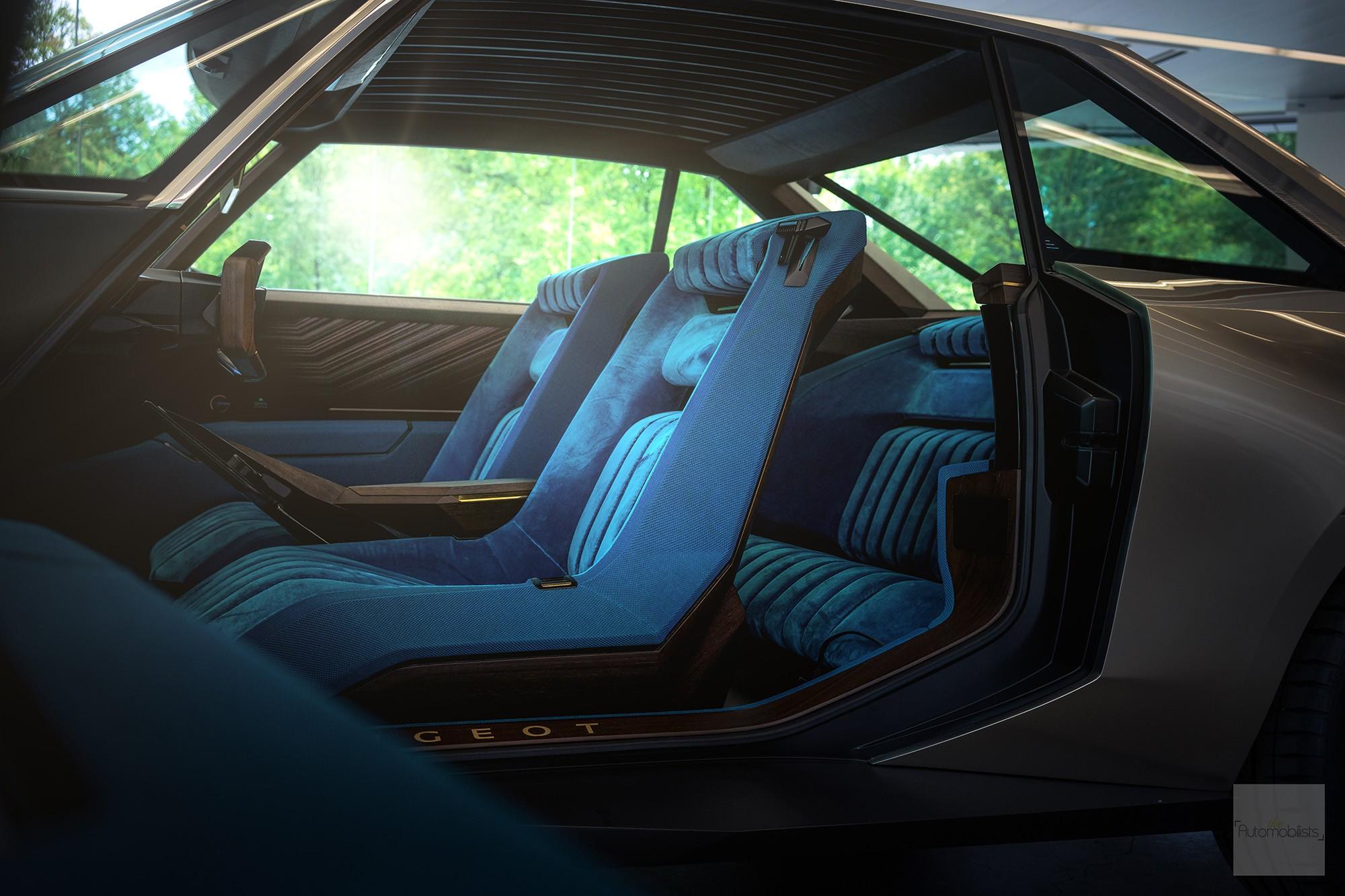 Peugeot P18 Paris Motor Show 2018 E Legend Concept Car vue interieure