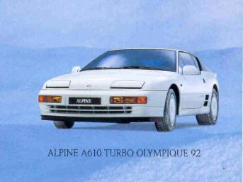 Alpine A610 Olympique 92