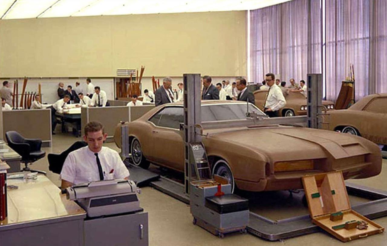 1966 buick riviera full size clay model