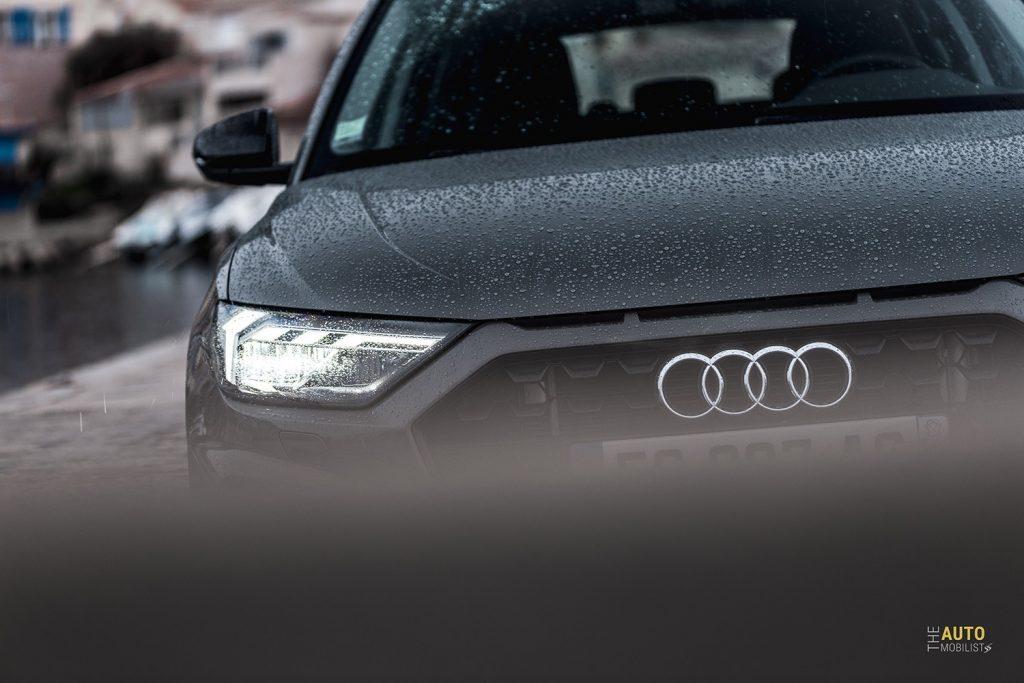 Essai Audi A1 30 TFSI S Line calandre phare LED