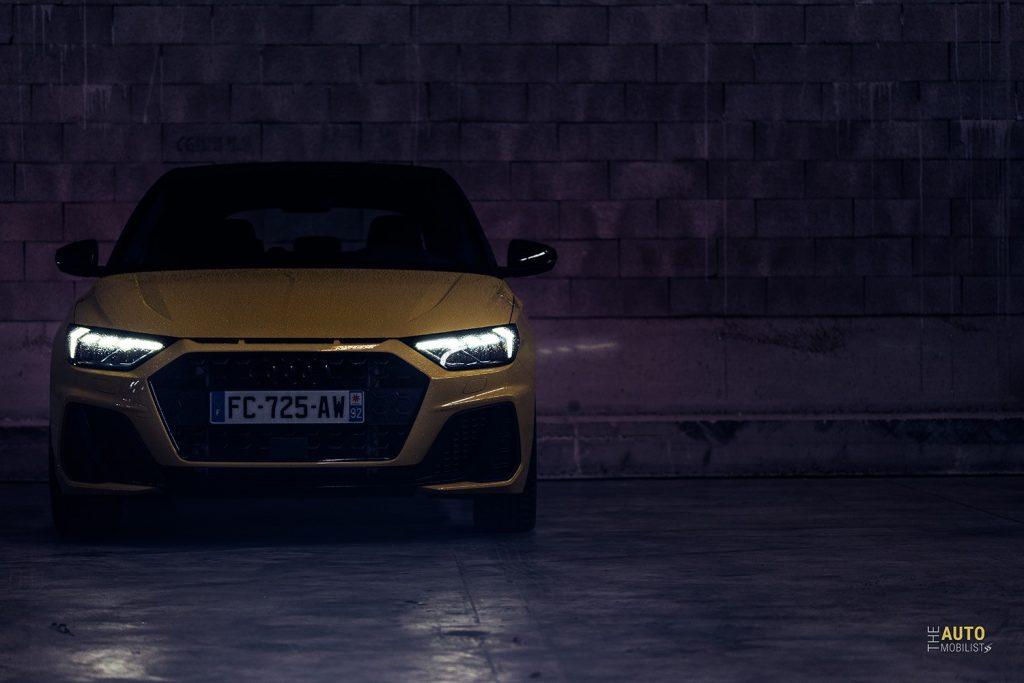 Essai Audi A1 30 TFSI S Line face avant jaune