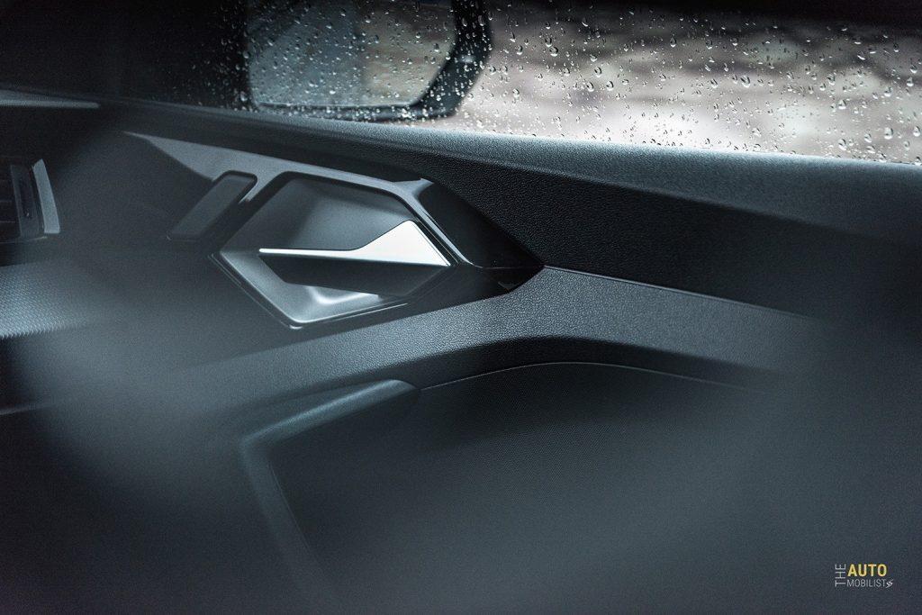 Essai Audi A1 30 TFSI S Line finition portiere