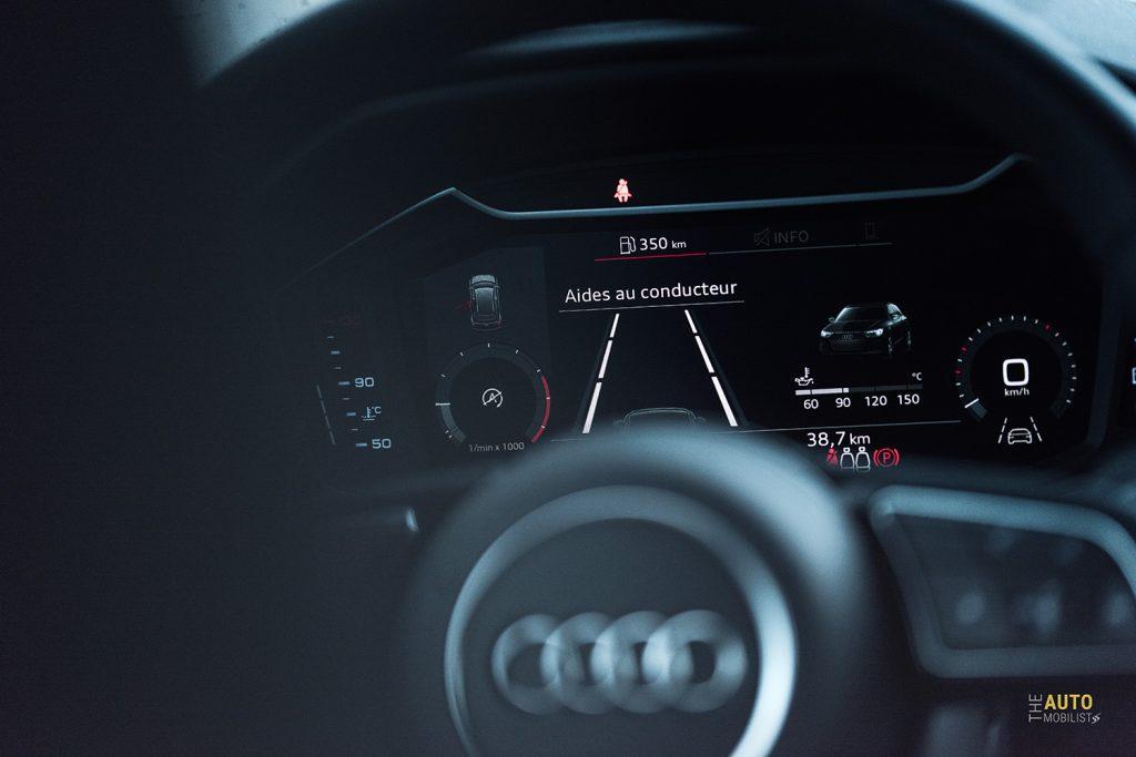 Essai Audi A1 30 TFSI S Line virtual cockpit 1
