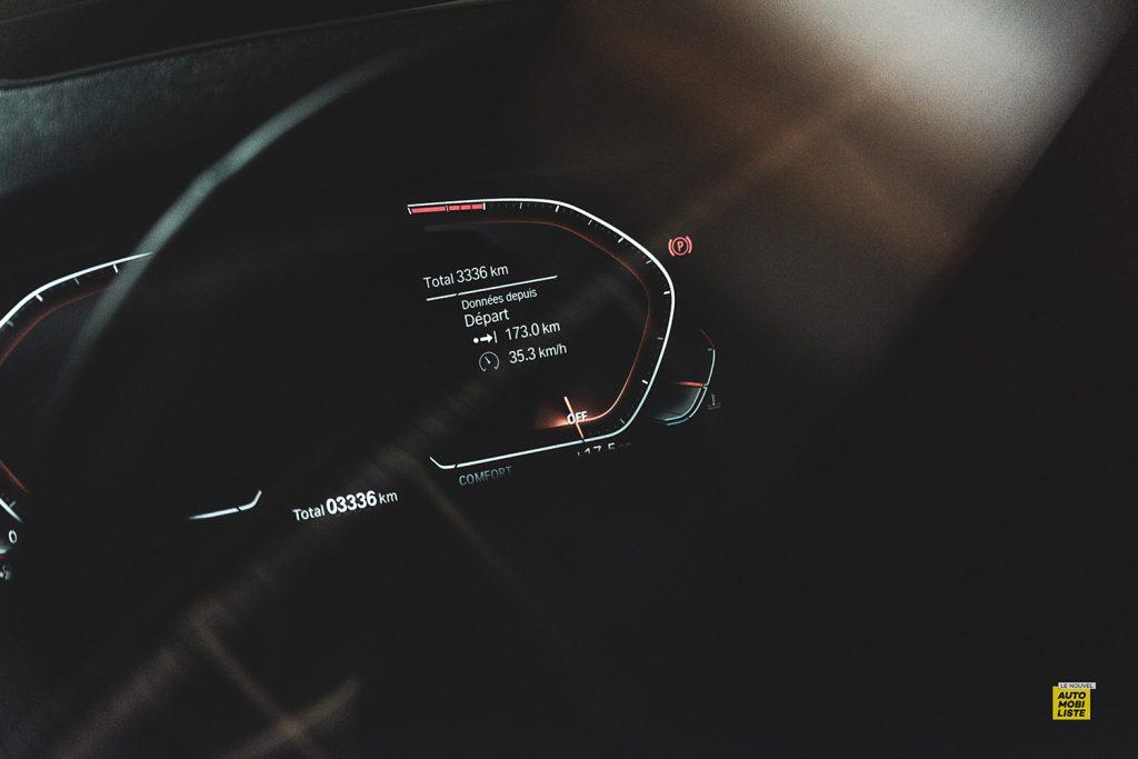 Essai bmw serie 3 320d MSport Luxury BVA8 detail compte tours digital