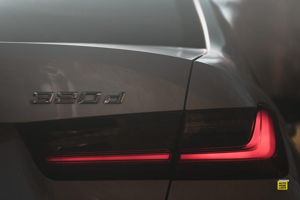 Essai bmw serie 3 320d MSport Luxury BVA8 detail feu arriere