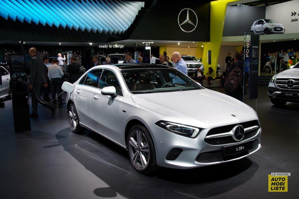 Mercedes Classe A250e PHEV berline Francfort 2019 LNA FM 4