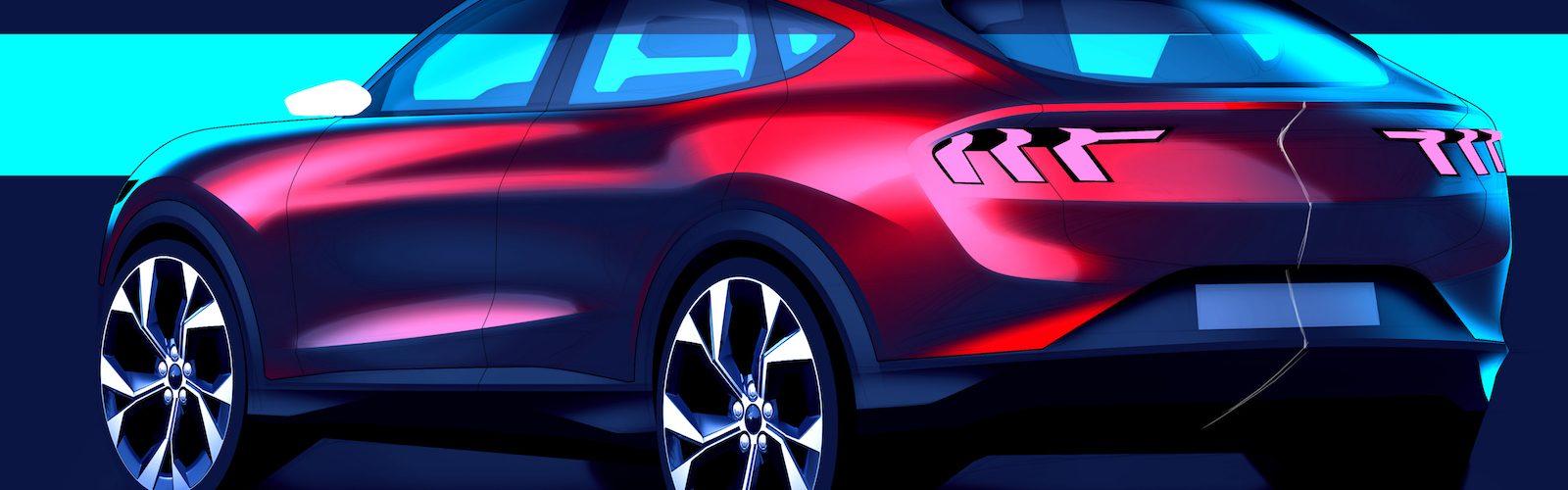 Mustang Mach-E Design Sketch