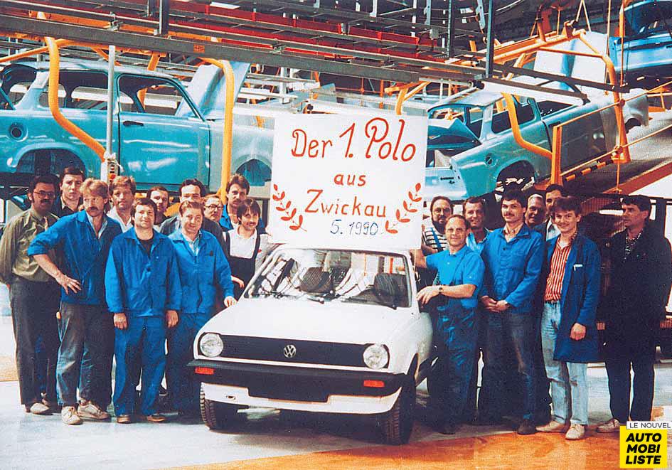 Sachsenring Trabant erster VW polo 1990 mannschaft