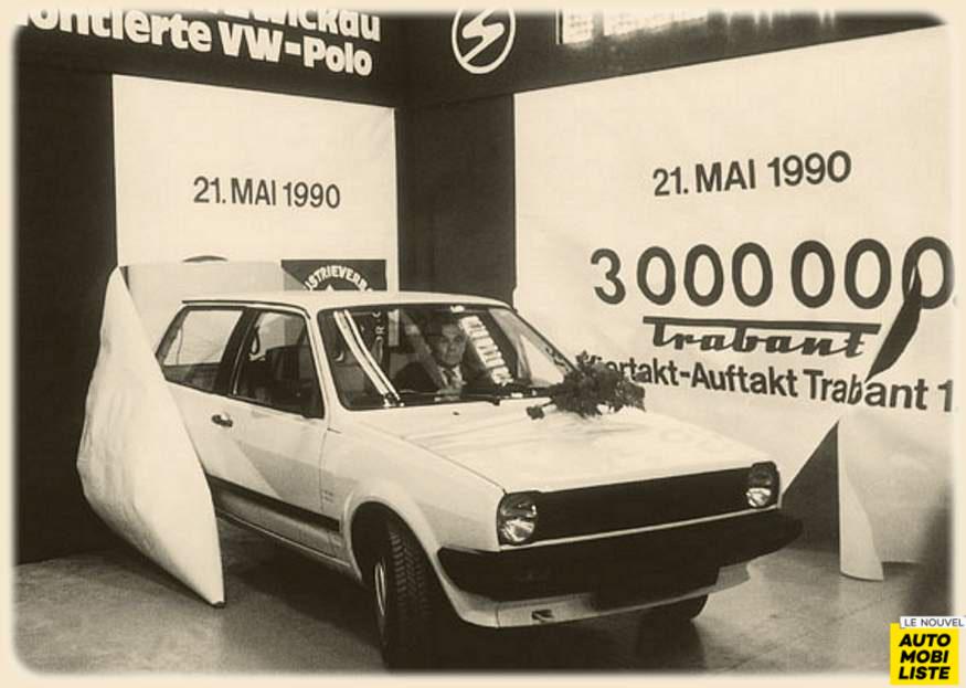 Trabant et VW Polo ensemble sur les chaines