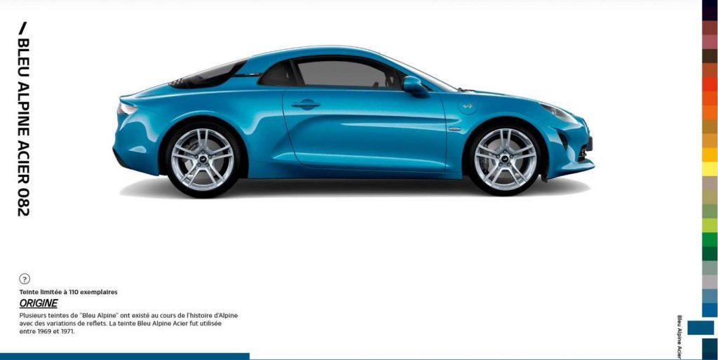 Alpine A110 Color Edition Bleu Alpine Acier 082