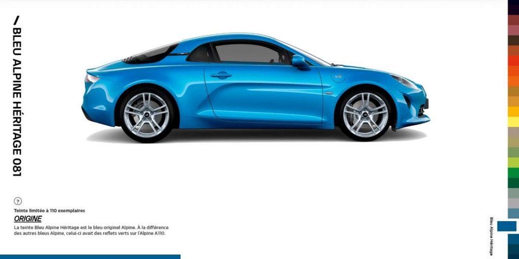 Alpine A110 Color Edition Bleu Alpine Héritage 081