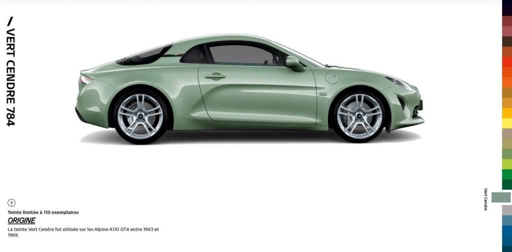 Alpine A110 Color Edition Vert Cendre 784