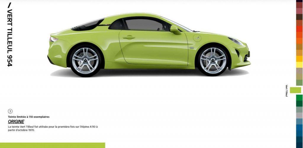 Alpine A110 Color Edition Vert Tilleul 954
