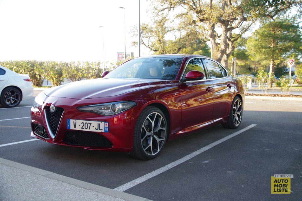 Alfa Romeo Giulia TI 2.2 190 AT8 rouge LNA FM 66
