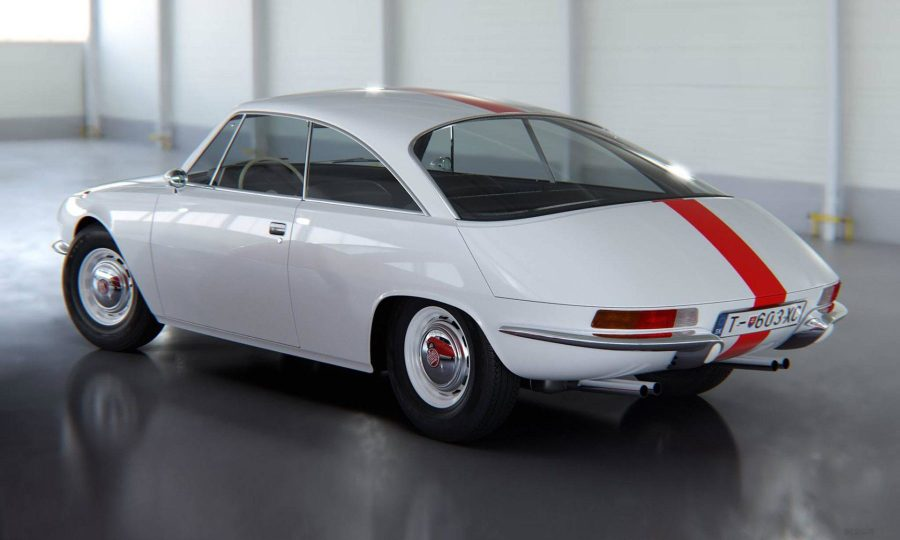Tatra 603 X Coupé rendering