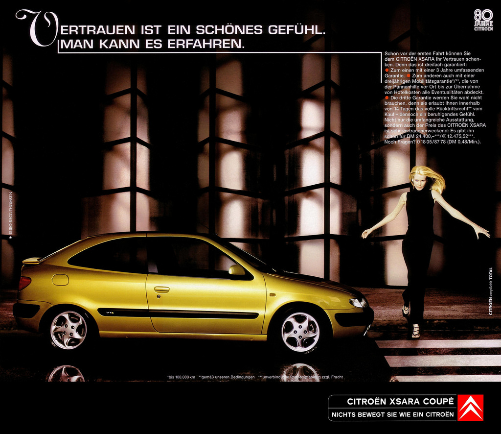 Citroën Xsara Claudia Schiffer