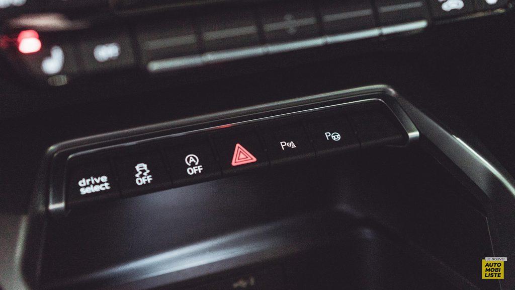 Essai Audi A3 2021 Sportback 35TDI Detail console