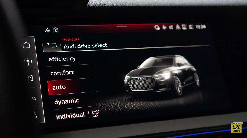 Essai Audi A3 2021 Sportback 35TDI Mode Drive Select