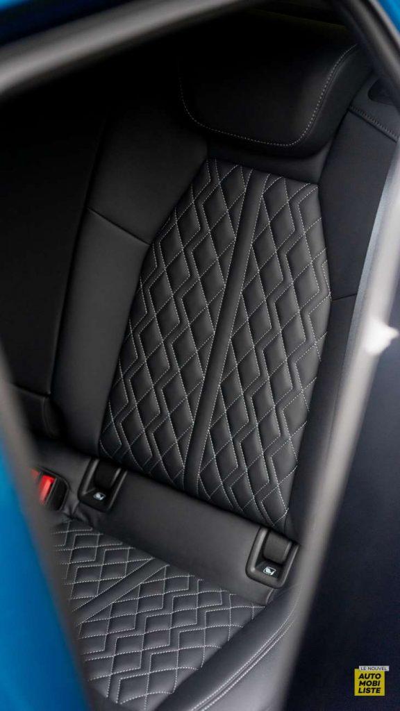Essai Audi A3 2021 Sportback 35TDI Siege arriere cuir