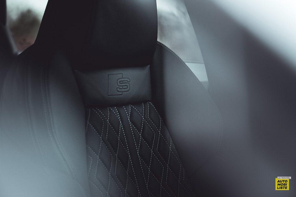 Essai Audi A3 2021 Sportback 35TDI Sieges cuir surpiqures