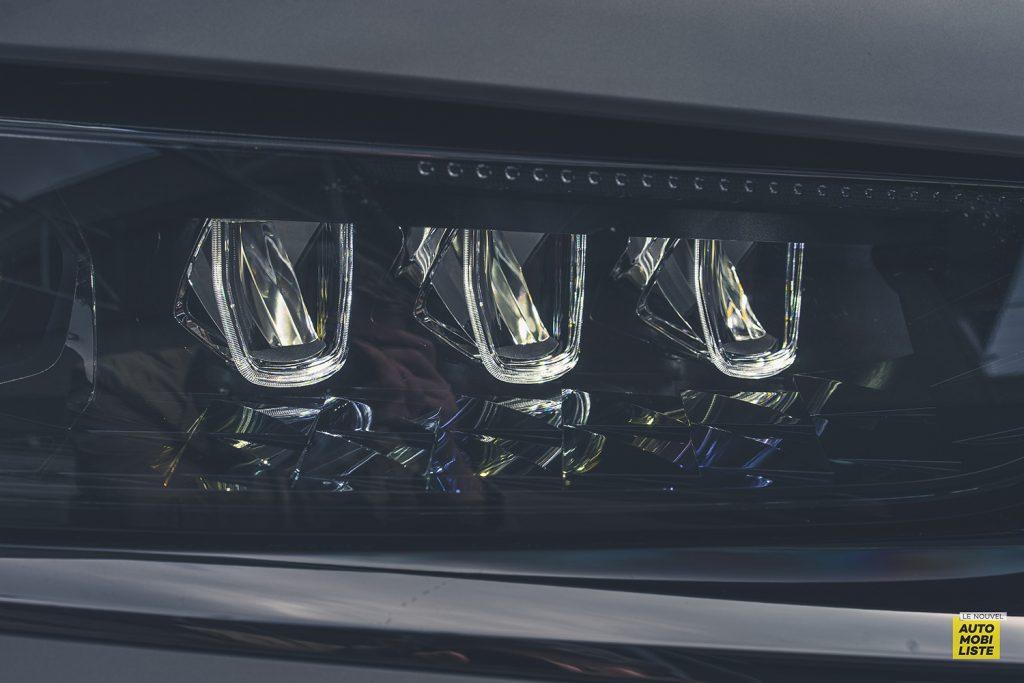 Essai DS9 E Tense THP 225 Hybride Crytal Pearl Finition Rivoli Opera Detail phare