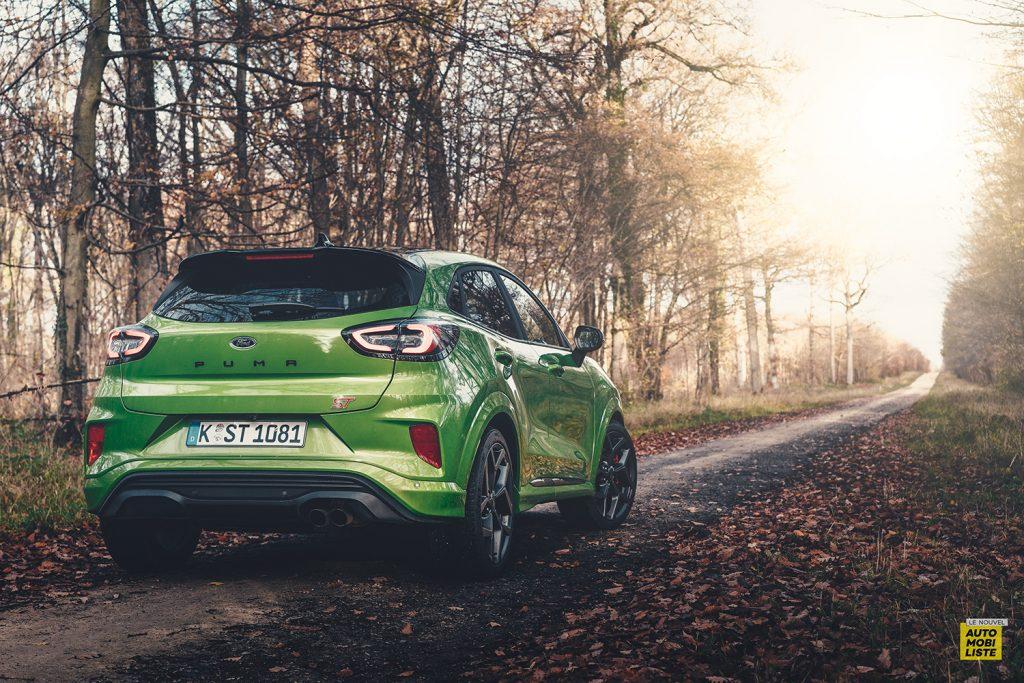 Essai Ford Pumat ST 200ch BV6 Green Mean Face arriere