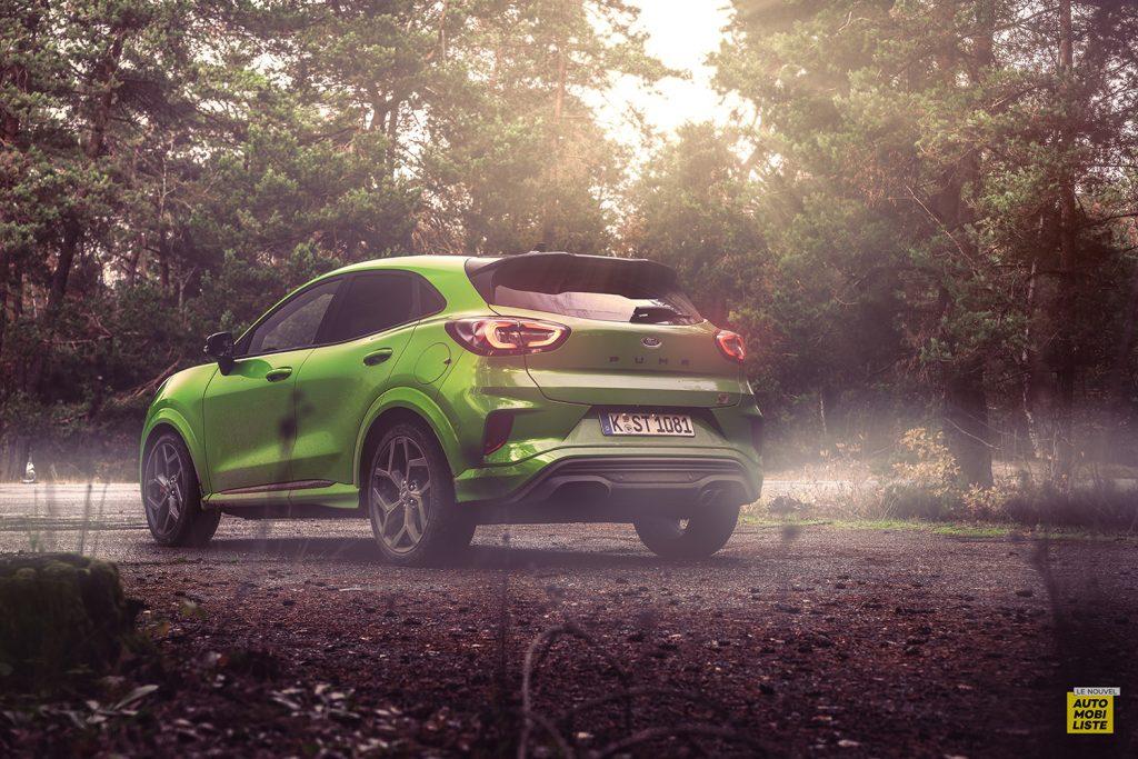 Essai Ford Pumat ST 200ch BV6 Green Mean Face arriere 2