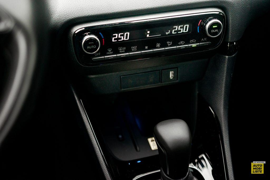 Essai Toyota Yaris La Premiere Edition Hybride Bloc climatisation