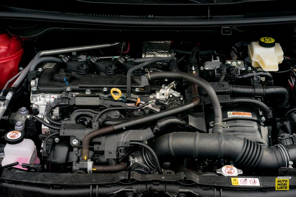 Essai Toyota Yaris La Premiere Edition Hybride Bloc moteur