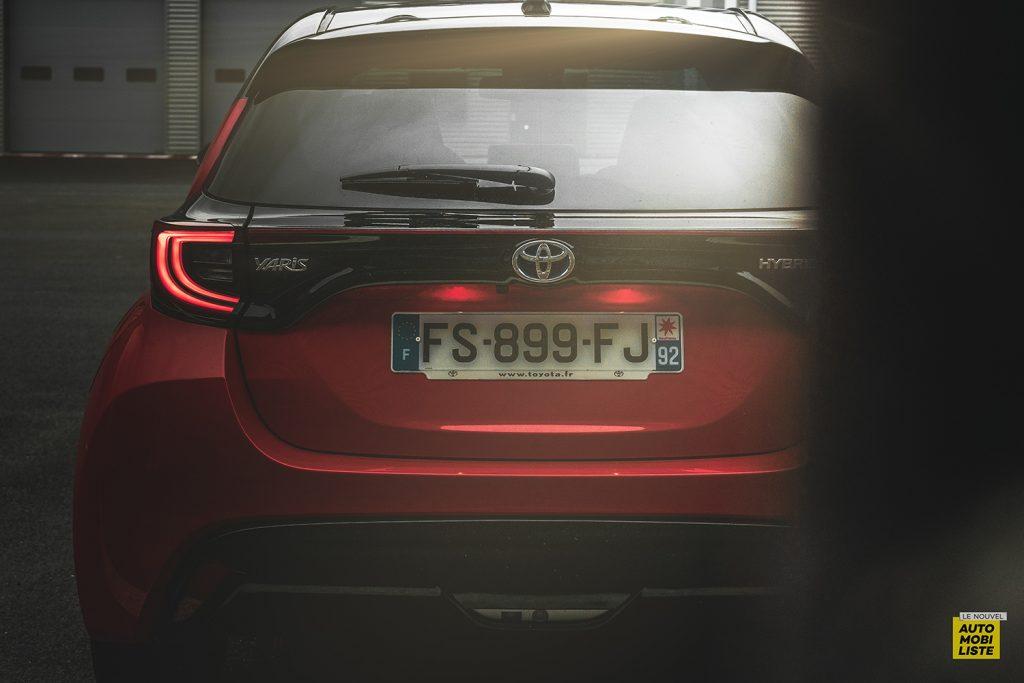 Essai Toyota Yaris La Premiere Edition Hybride Face arriere