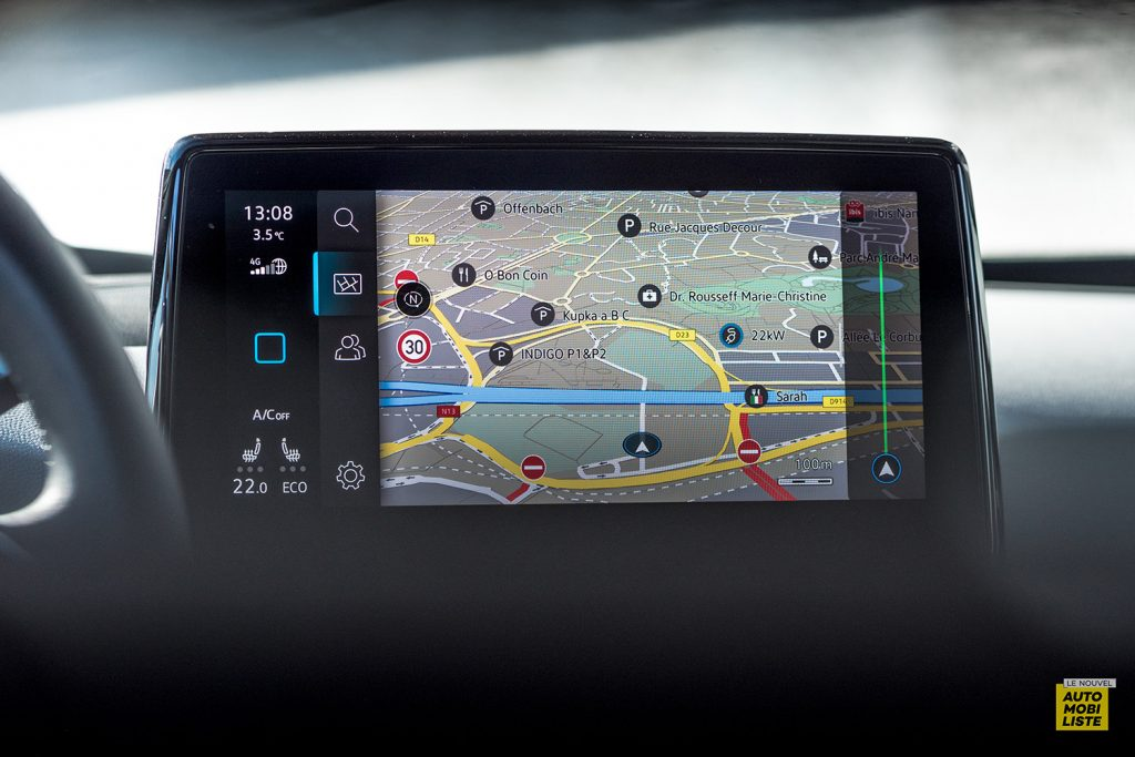 Essai VW ID.3 1st Max 58kWh 204ch ecran tactile GPS