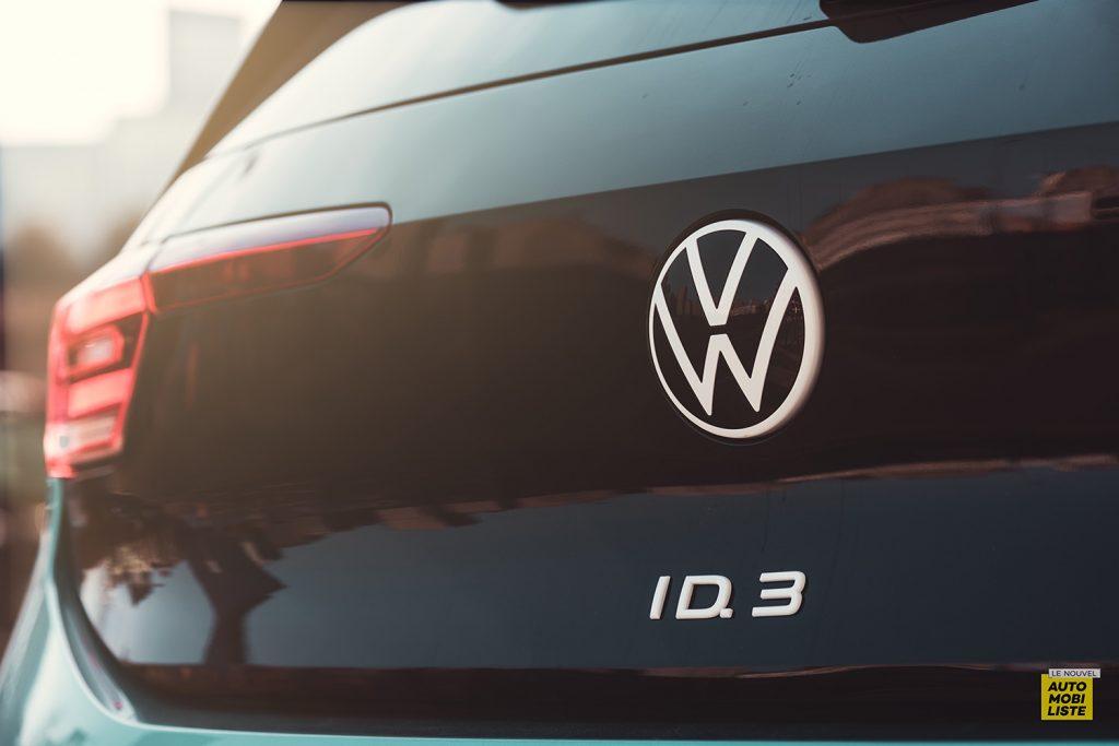 Essai VW ID.3 1st Max 58kWh 204ch logo coffre