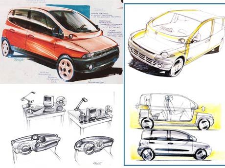 Fiat Multipla sketches