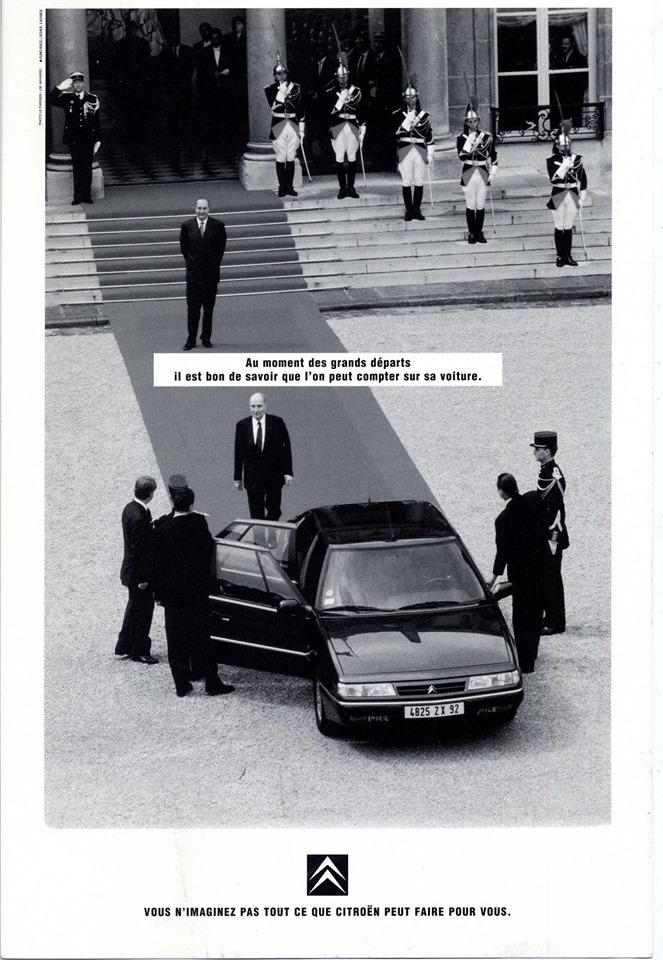 Mitterrand Chirac Citroen XM