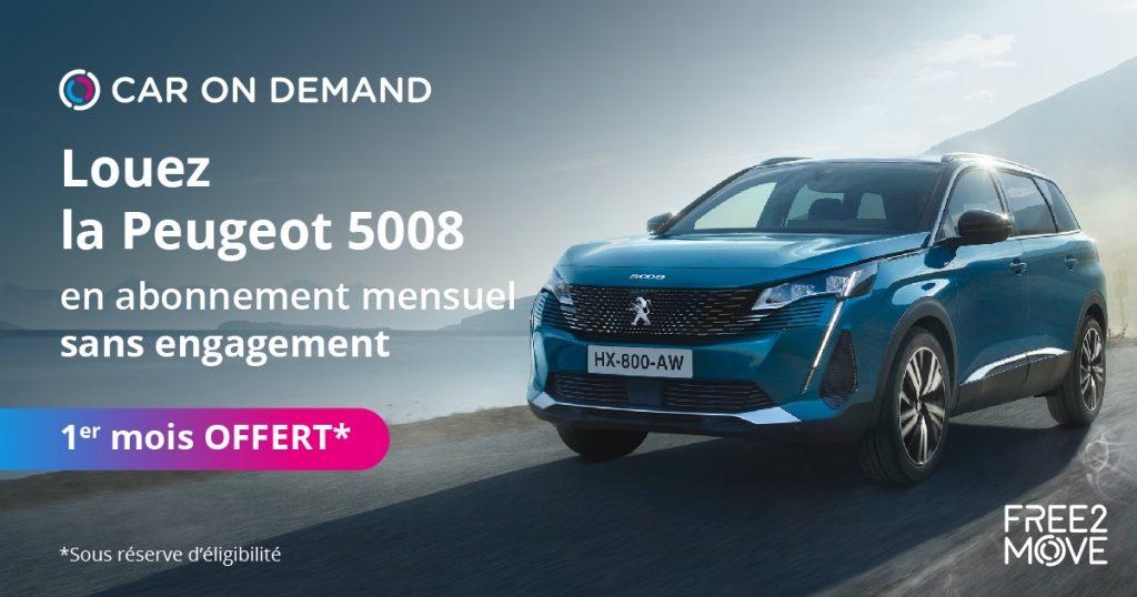 Free2move Car On Demand - un mois offert
